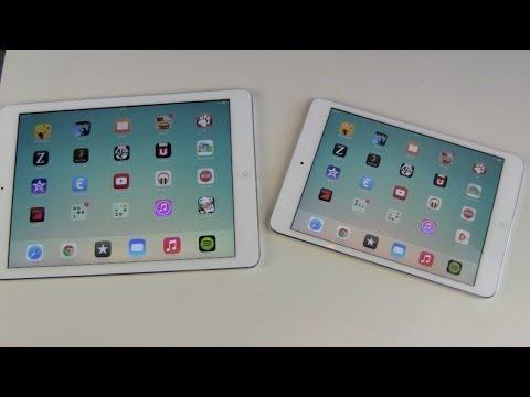 Apple iPad Air vs iPad Mini mit Retina Vergleich