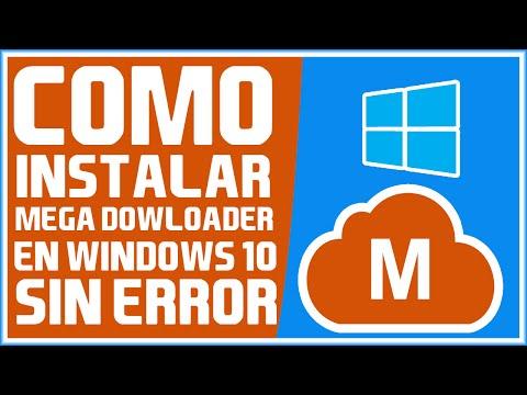 Como Instalar MEGA DOWLOADER en Windows 10 sin Errores - Tutorial 2016