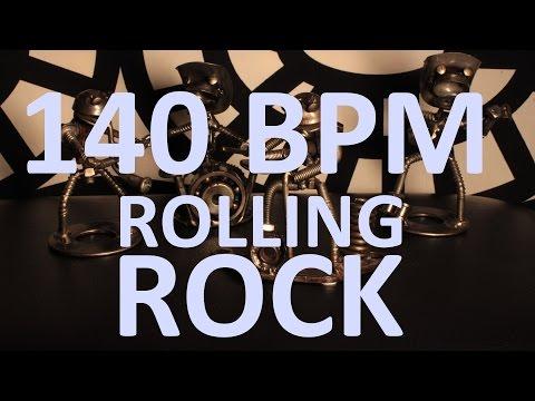 140 BPM - Rolling Rock - 4/4 Drum Track - Metronome - Drum Beat
