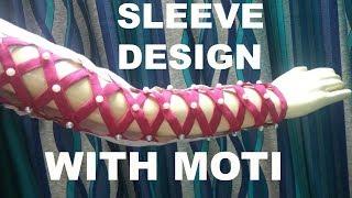 Beautiful Sleeve design with moti