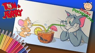 Раскраска Том и Джерри  Раскраски из мультфильма для детей  Мои раскраски