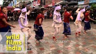 Nepali folk dance Sakela from Khumbu or Rai tribe
