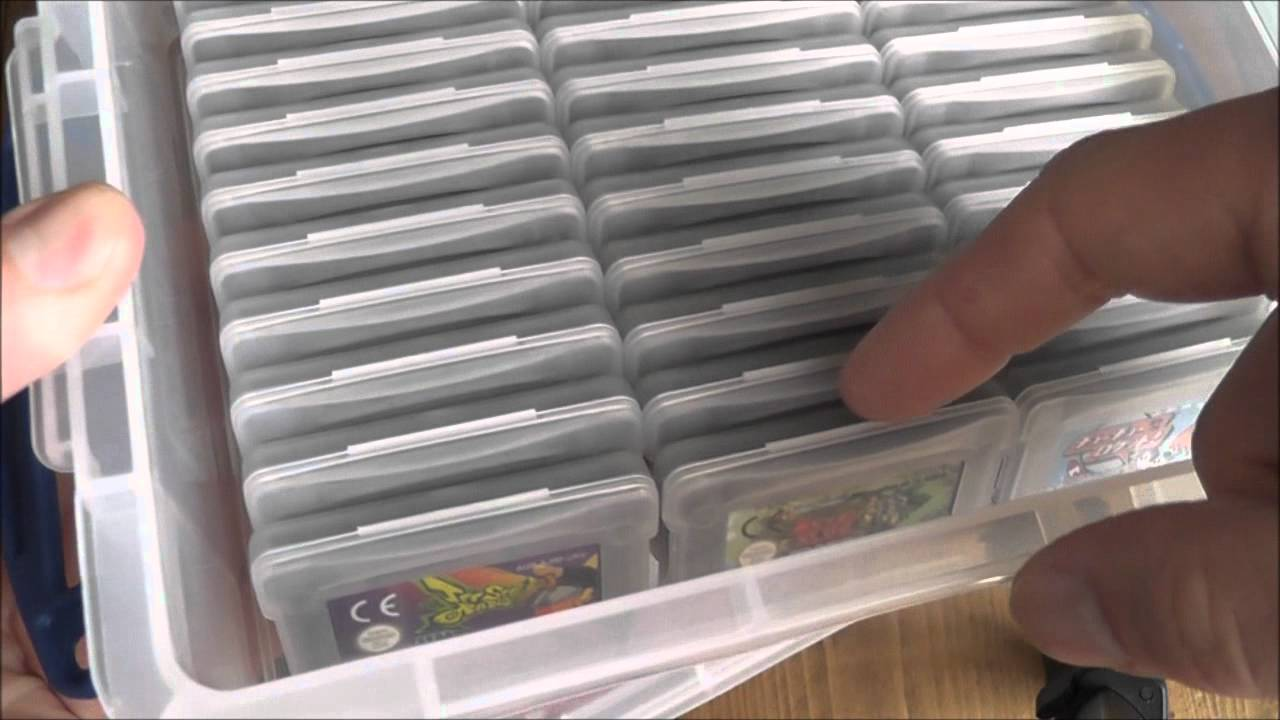 Nintendo game boy color youtube - Game Boy Advance Cartridge Management Collection Storage Nintendo Gba Youtube