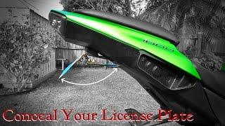 Motorcycle License Plate Flipper DIY