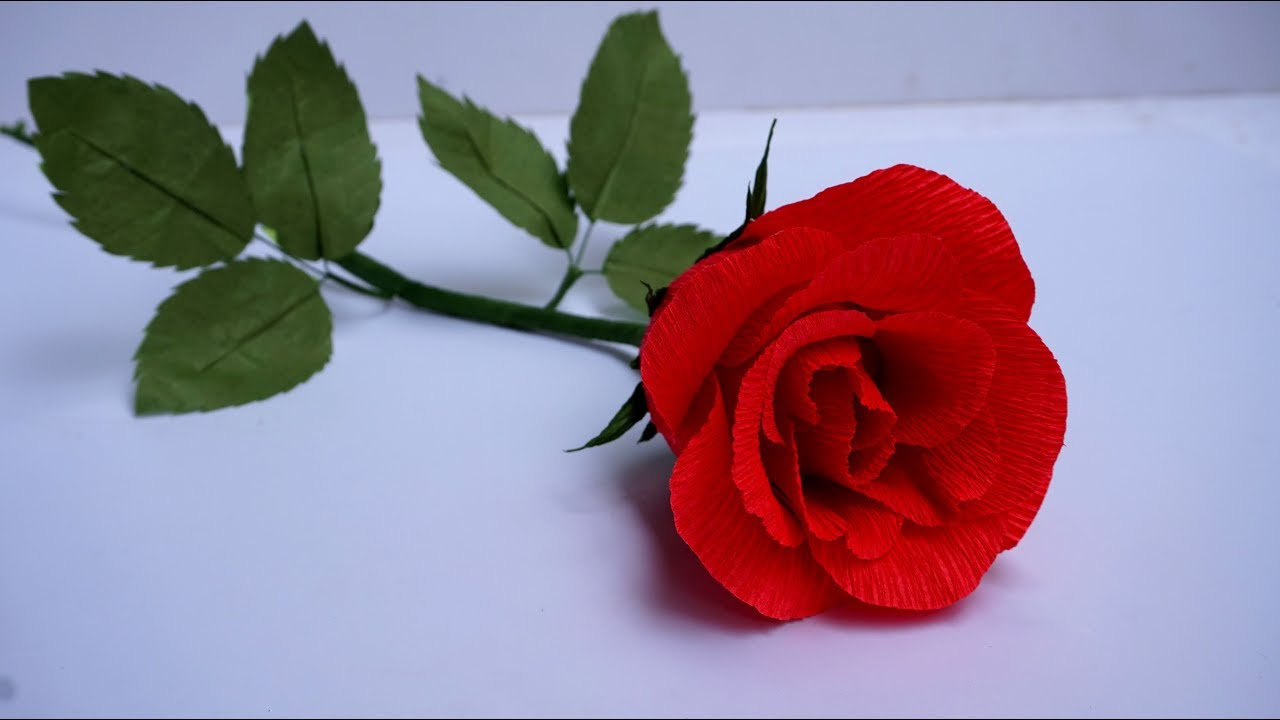 Valentines day ideas make a beautiful diy paper rose for your valentines day ideas make a beautiful diy paper rose for your honey easy paper flowers crepe izmirmasajfo