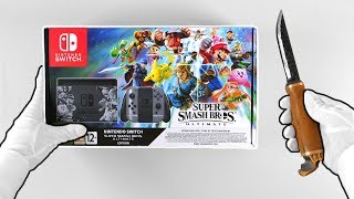 Super Smash Bros. Ultimate Nintendo Switch Console Unboxing (Limited Edition Bundle)