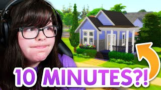 I tried to build a house in The Sims 4 in only 10 minutes 😬