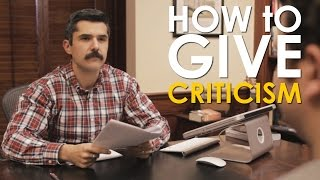 How To Give Effective Criticism