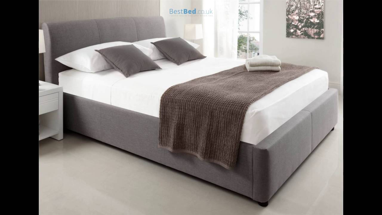 Serenity Upholstered Ottoman Storage Bed   Grey