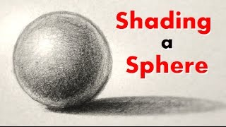 How Draw And Shade Sphere Easy Way
