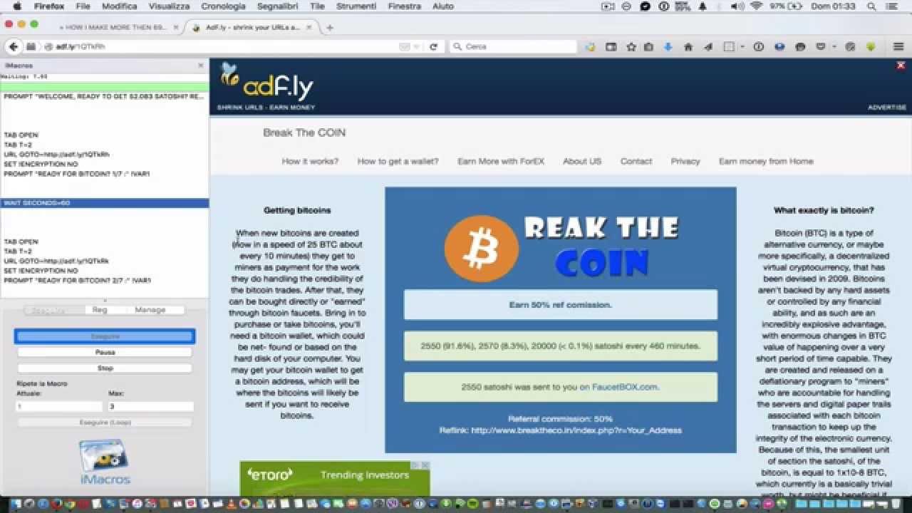 Bitcoin Faucet - Приложение для заработка BitCoin (сатоши) на