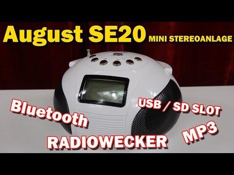 """""""AUGUST SE20 BLUETOOTH MP3 MINI STEREOANLAGE"""" -Vorstellung"""