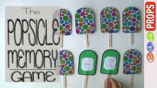 THE POPSICLE MEMORY GAME_Game ideas from popsicle/craft sticks | Edu Props