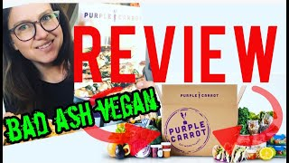 Purple Carrot review.... vegan meal subscription box!