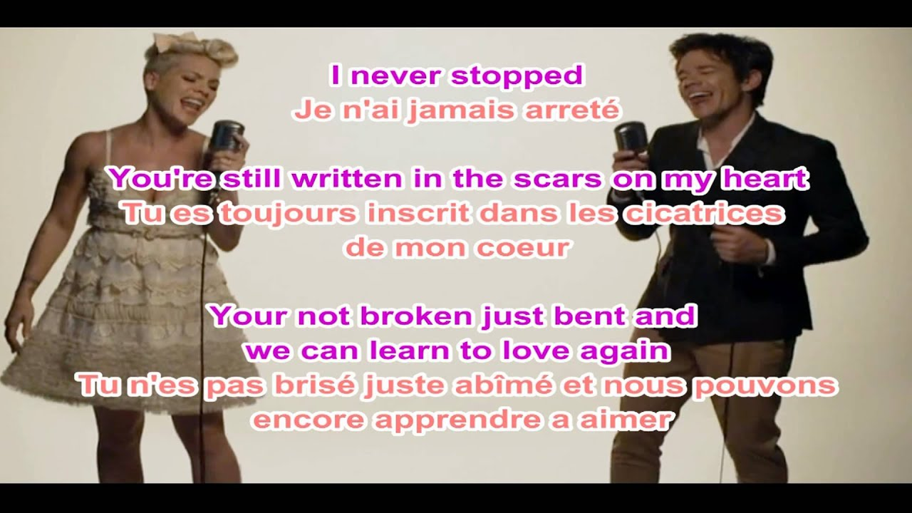 Pink - Just Give Me a Reason LYRICS + traduction francaise ...