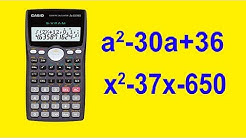 middle term break using calculator