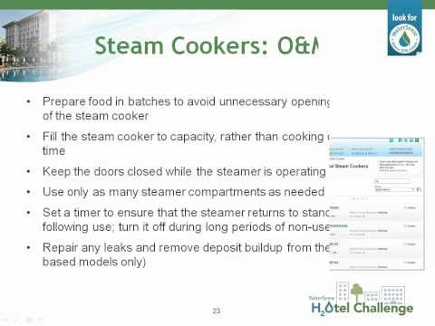 WaterSense H2Otel Challenge- What's Cooking: Commercial Kitchen Savings