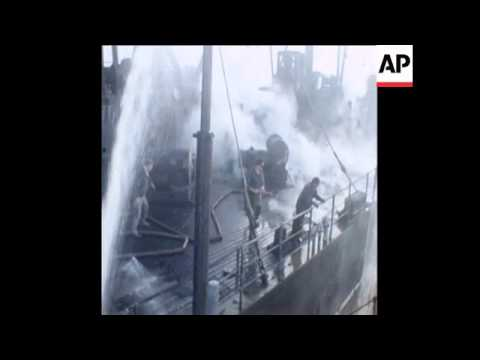 SYND 17-5-72 SHIP COLLISION IN RIVER PLATE
