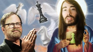Rainn Wilson Prays For Blunders vs Chess Jesus
