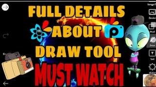 FULL DETAILS ABOUT PICSART DRAW TOOL IN HINDI /URDU/PICSART TUTORIAL/MUST WATCH