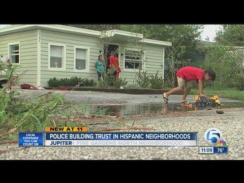 Police building trust in Hispanic neighborhoods