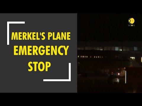 Angela Merkel's plane makes emergency stop