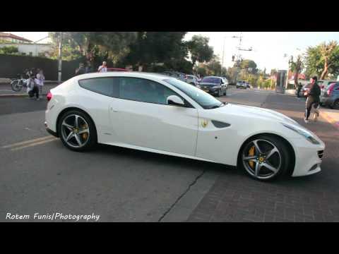 White Ferrari FF in Israel