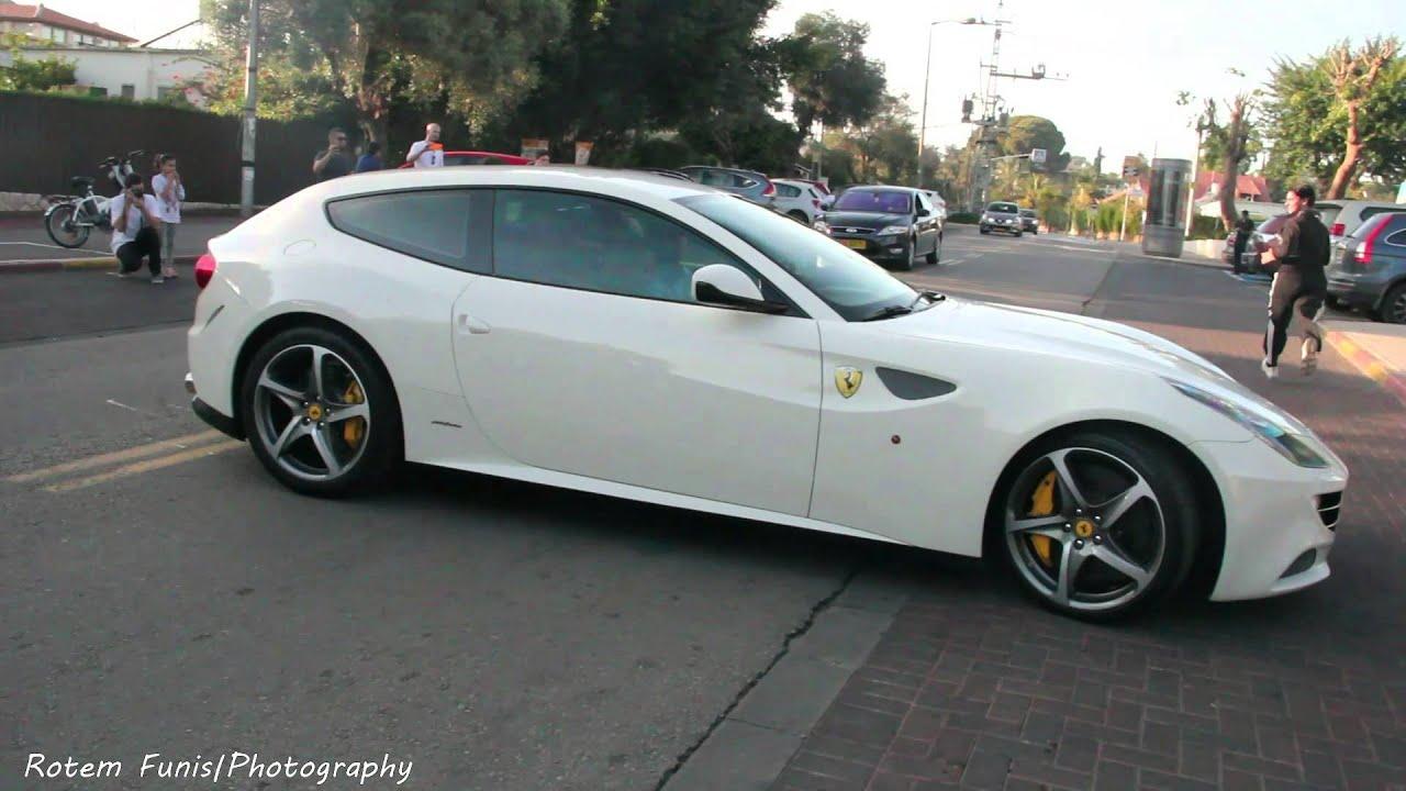 White Ferrari Ff In Israel Youtube