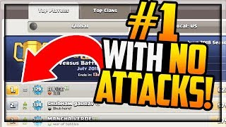 #1 GLOBAL with NO ATTACKS, NEGATIVE Trophies- Clash of Clans CHEATERS, Or?