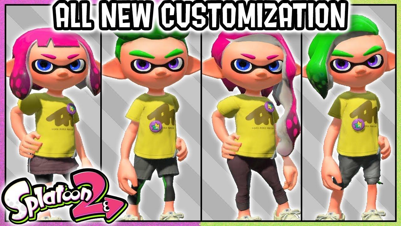 Splatoon 2 Hairstyles: ALL NEW HAIRSTYLES/LEGWEAR OPTIONS INKLING BOY/INKLING