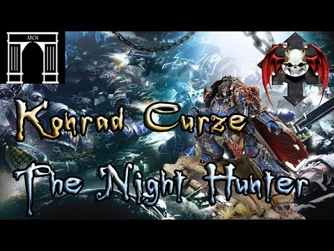 The Horus Heresy 40k Lore, Konrad Curze, The Night Haunter, Primarch of the Night Lords Legion