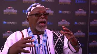 Premierer Black Panther South Africa - Itw Doctor John Kani (official video)