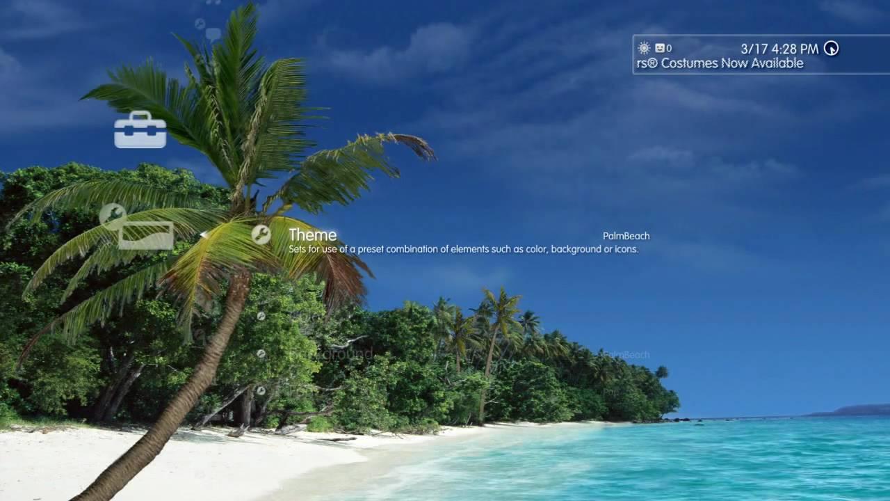 Tropical Breeze Dynamic PS3 Theme