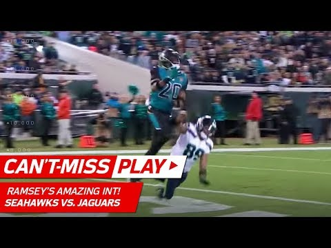 Jalen Ramsey's Spectacular INT Off Russell Wilson's Pass! | Can't-Miss Play | NFL Wk 14 Highlights
