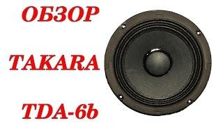 Обзор эстрадных динамиков Takara Dance TDA-6b. Автозвук своими руками