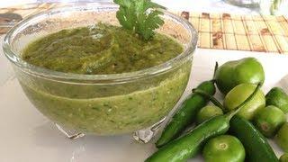 Salsa Verde De Chiles Serranos Y Tomatillos Asados  Receta Deliciosa