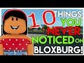 10 Things YOU NEVER NOTICED In BLOXBURG! | SunsetSafari