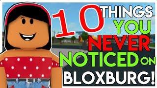 10 Things YOU NEVER NOTICED In BLOXBURG! | SunsetSafari