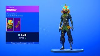 Fortnite ITEM SHOP (October 13) | *NEW* PUMPKIN HEAD SKIN!