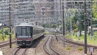 JR西日本 221系 B19編成+223系6000番台 V22編成  普通 加古川行き 膳所駅  山崎駅  20210728
