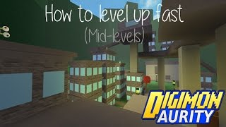 Digimon Aurity : How To Level Up Fast (Mid-levels) | Roblox