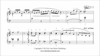 Benda : Sonatina in A minor for Piano