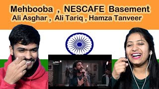 Indian reaction on Mehbooba NESCAFÉ Basement | Ali Asghar | Ali Tariq | Hamza Tanveer | Swaggy d