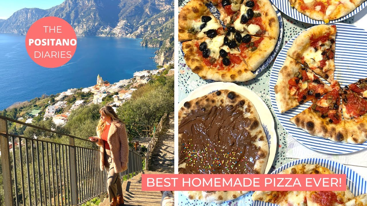 THE BEST HOMEMADE NEAPOLITAN PIZZA without a pizza oven! | The Positano Diaries EP 82