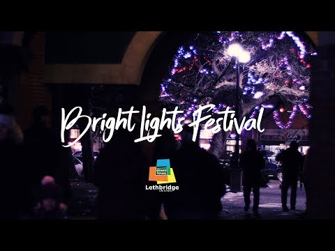 Bright Lights Festival in Downtown Lethbridge, Alberta