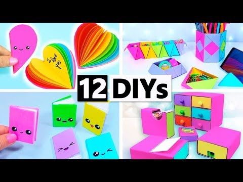 12 DIY YOU CAN MAKE IN 5 MINUTES! DIY SCHOOL SUPPLIES AND MORE!