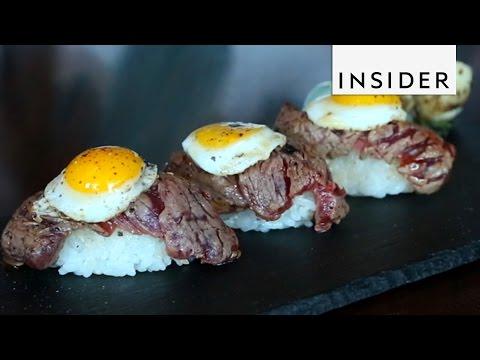 Steak and Egg Breakfast Sushi