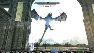 Skyrim legendary difficulty glitchless 1:31:26 speedrun