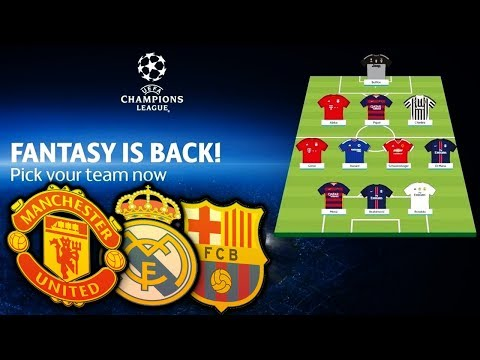 MY UEFA CHAMPIONS LEAGUE FANTASY TEAM!! (JOIN MY LEAGUE)
