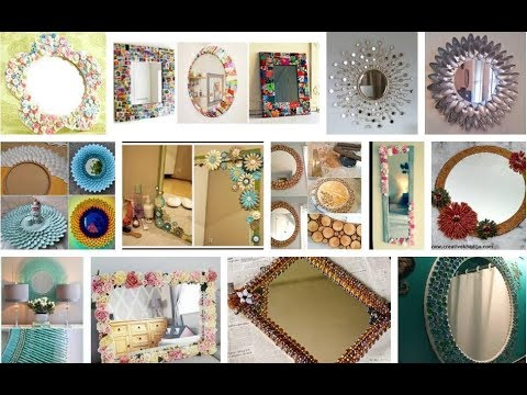 Mirror decoration ideas handmade